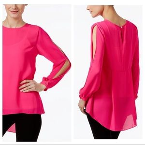 NWT Vince Camuto Cold Shoulder Pink Top M & XL